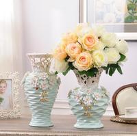 Керамические белые цветы ваза home decor большие напольные вазы для Свадебные украшения керамики фарфоровые статуэтки