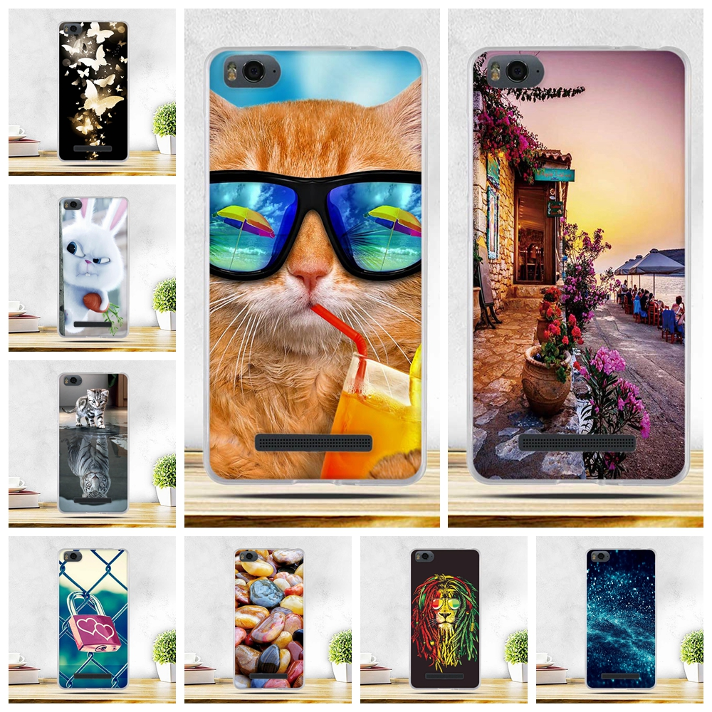 for Xiaomi Mi 4i 4c Mi4i Mi4c M4i M4c Case Scenery Pattern TPU Soft Cover For Xiaomi Mi4c Mi 4c Protective Cases for Xiaomi Mi4i