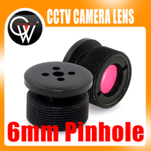 10PCS/LOT 6mm lens IR Filter Metal Button effect Board lens For CCTV Security Camera Free Shipping