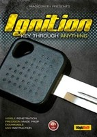Ignition Key Through Anything Gimmick DVD Magic Trick Stage Closeup Fire Comedy Accessories