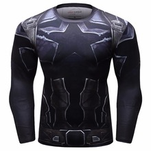 Avengers 3 Captain America 3D Printed T shirts Men Compression Shirts 2018 New Crossfit Tops For Men BodyBuilding Clothes