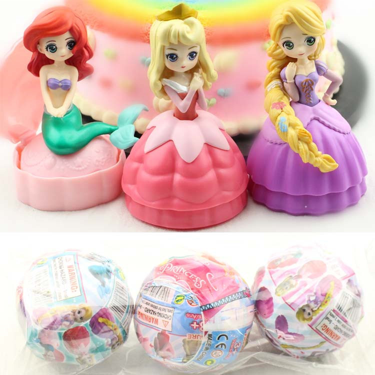 5 Inch Princess Belle Cinderella LOL Baby Dolls In Egg PVC Action Figures LOL Ball Toy