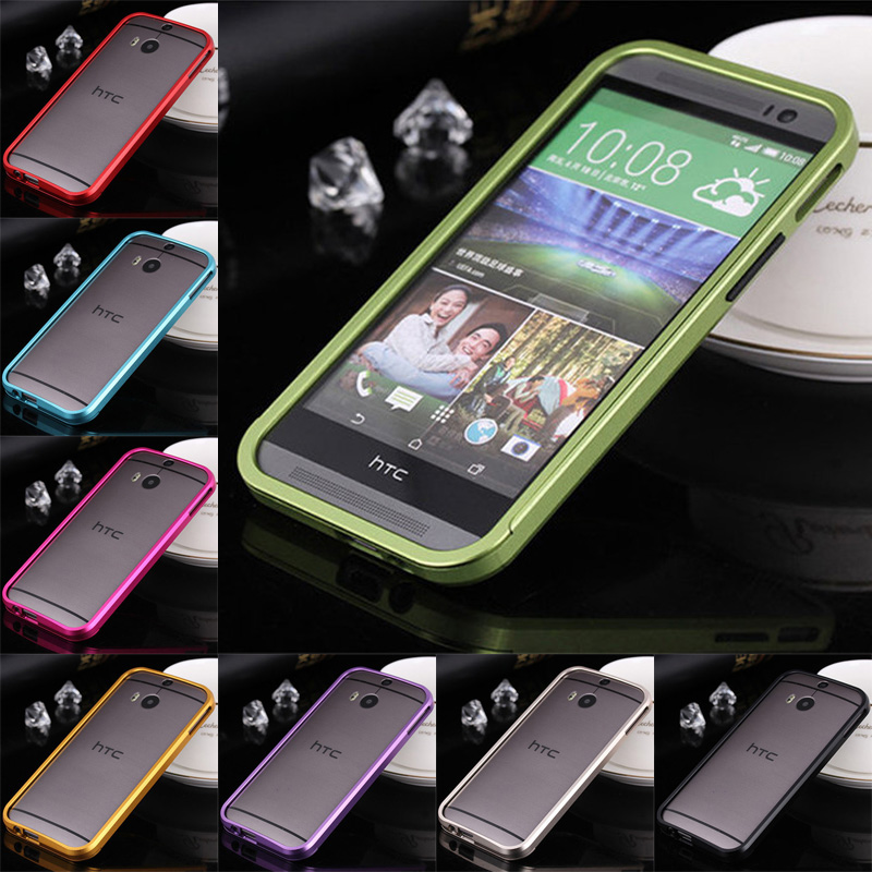 For HTC M8 Bumper Case Luxury Push Pull Aluminum Metal Frame Case Cover for HTC One