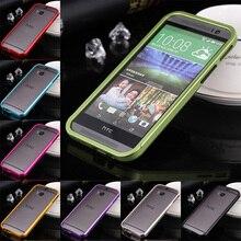 Для HTC M8 Случае Бампер Роскошный Двухтактный Алюминиевый Металлический Каркас Чехол для HTC One M8 5.0 «ультратонкий Телефон Оболочки Бампера