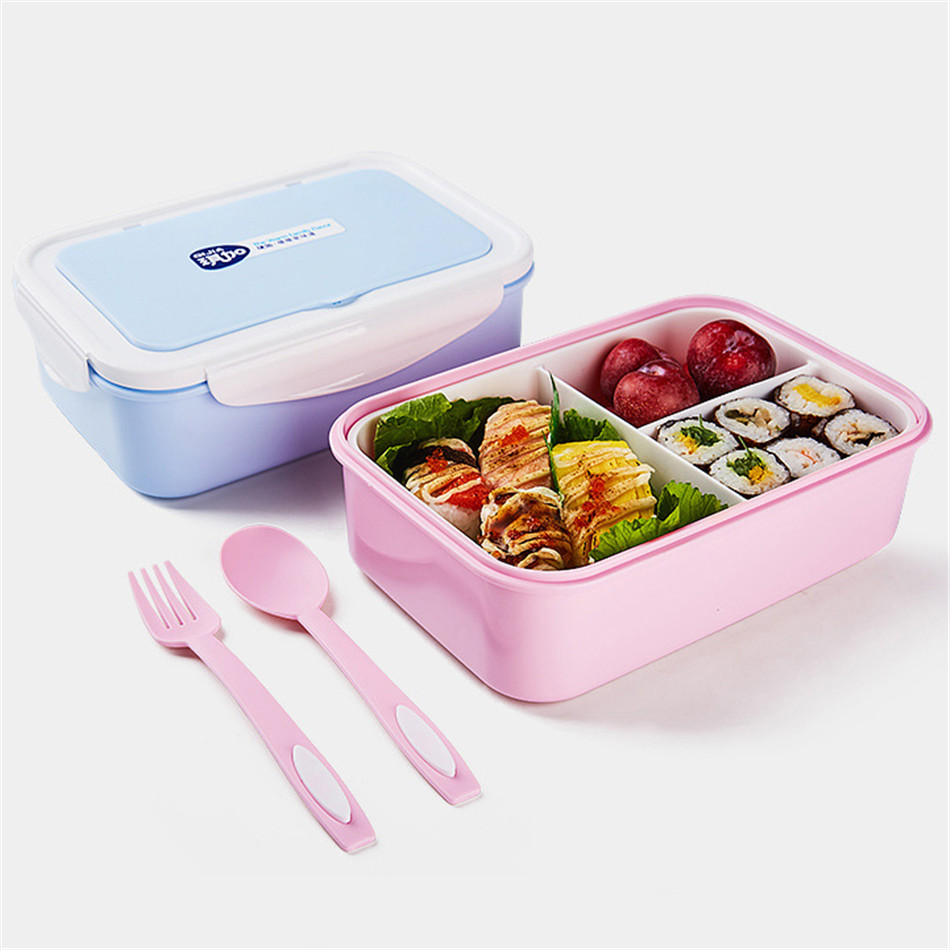 ONEUP Lunch Box Eco-Friendly Portable Food Container With Bags Tableware Microwavable Bento Box For kids Picnic School Office 1