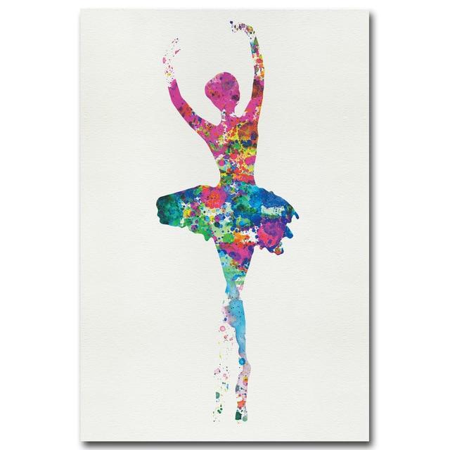 Unframed Poster Minimalist ful Art Ballerina Ballet Dancer Canvas Nwymv8n0O