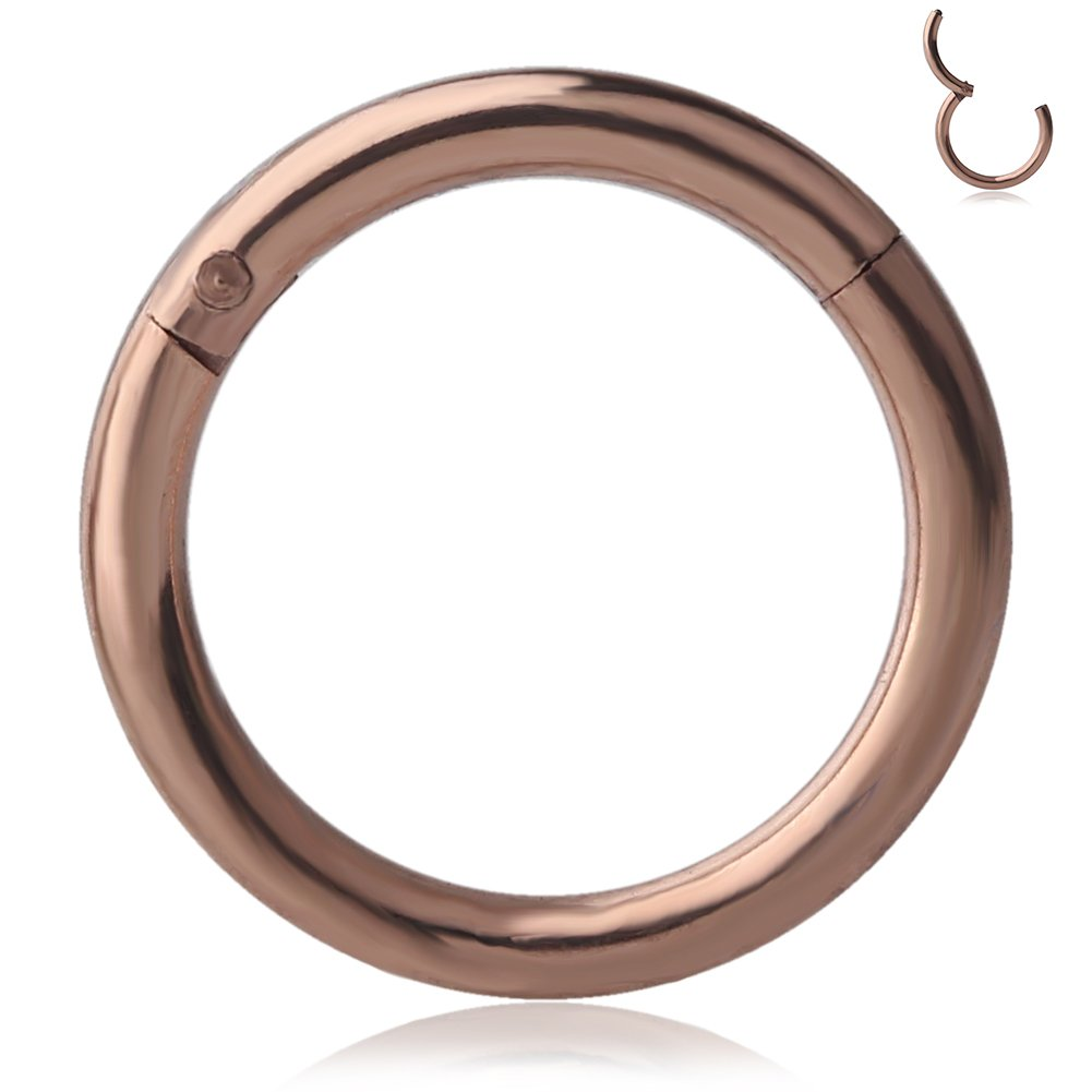 "1PC Stainless Steel Lip Nipple Septum 5//16/"" Hoop 16g CZ Captive Bead Ring"