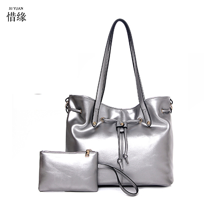 2017 Women Bag PU Leather Handbags Brand Women Composite Bags Set Ladies Handbag Messenger Bag Female Shoulder Bags Clutch white pongwee 2017 women messenger bags handbag set pu leather composite bag women bag top handle bags female famous brand