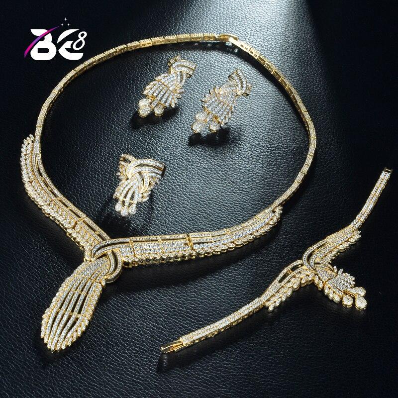 8 Nouveaux Exquise Africaine Cubique Zircone Mariée 4 pièces Mariage Bijoux Ensemble pour Les Femmes De Luxe Dubaï Ensemble De Bijoux Fine CZ JewelryS276
