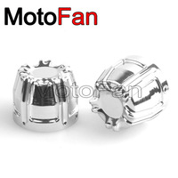 Motorcycle Front Axle Nut Caps Covers Chrome Kit for Harley Davidson Dyna Wide Glide EFI Electra CVO Ultra Classic Breakout FXSB