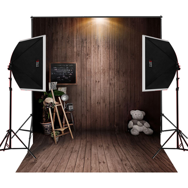 Vintage tan wood background for newborn photography studio digital props baby photos camera fotographical vinyl backdrop