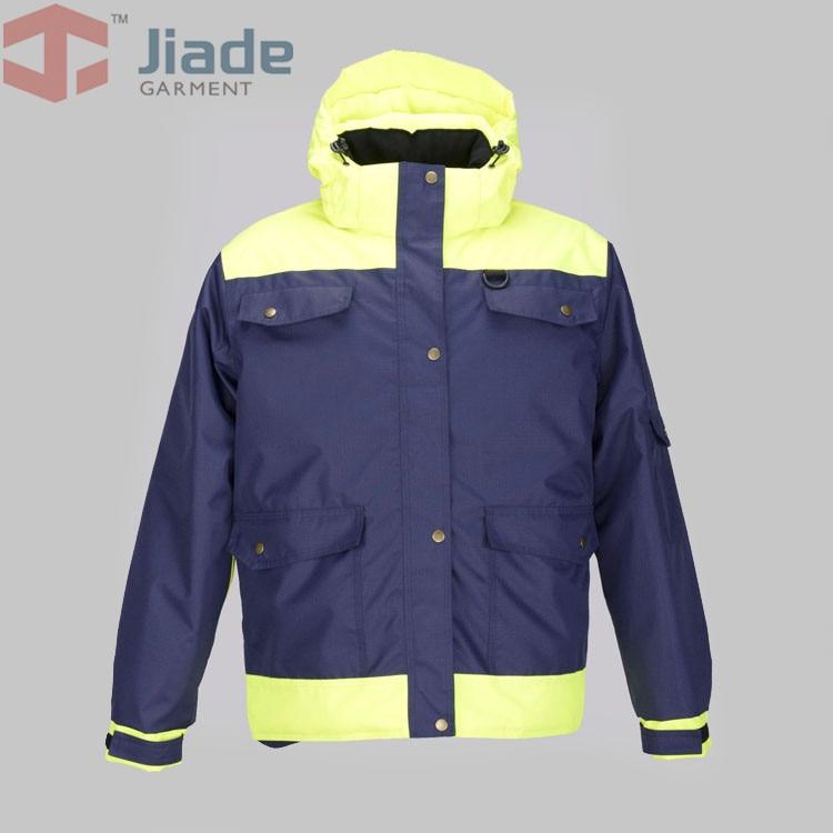 Jiade Mens Winter Jacket Work Jacket Men's Hooded Multi Pocket Jacket water proof Winter Jacket mens winter down jackets coats piumino peuterey wool collar double breasted jacket lapel pocket vertical multi pocket jacket