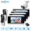 7 Video Door Phone Doorbell Intercom 2 To 6 Access Control Intercom System Motion Detection 1200TVL
