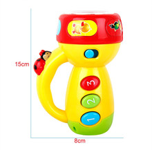 Baby Sleeping Story Projector Spin Learn Color Flashlight Projection Lamp