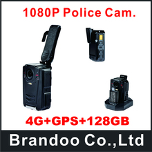 4G+GPS+128GB Waterproof 130 Degree View Angle Police Body Worn Camera
