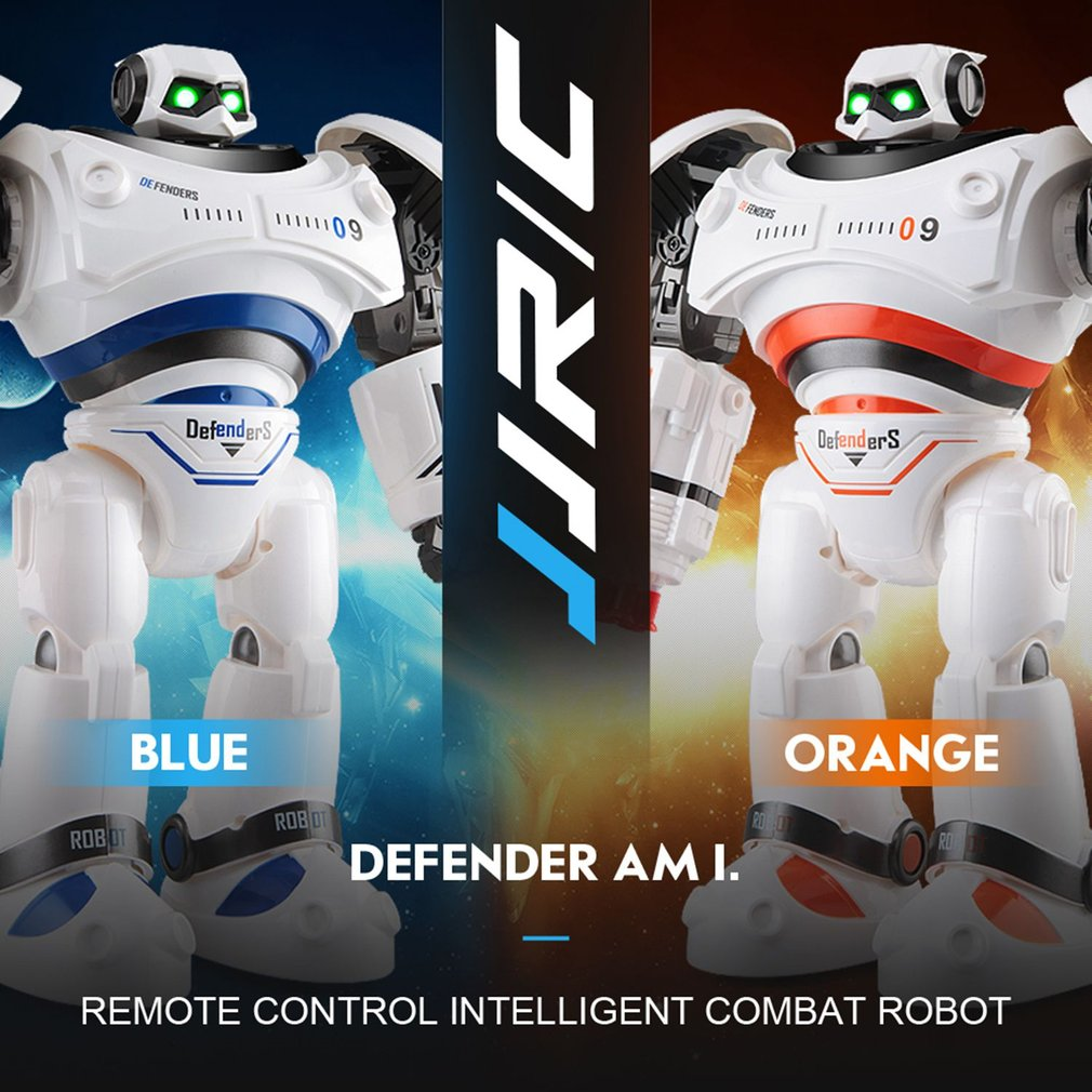 JJRC R1 Intelligent RC Robot Programmable Defender Remote Control Toy Dancing Armor Battle Robot Remote Control Toy For Child r1 intelligent rc robot programmable walking dancing combat defenders armor battle robot remote control toys for child gifts
