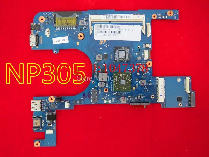 Original Laptop motherboard for SAMSUNG NP305 PN BA92-09448A Working 1 Year Warranty ba92 05127a ba92 05127b laptop motherboard for samsung np r60 r60 ddr2 intel ati rs600me mainboard