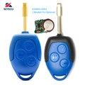 KEYECU (2 модели на выбор) Замена дистанционного ключа 3 кнопки 433 МГц 4D63 для Ford Transit WM VM 2006-2014 6C1T15K601AG