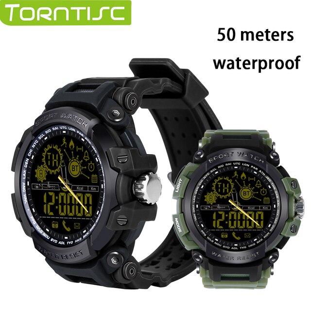 US $35 37 |TORNTISC smart watches DX16 smartwatch passometer smart clock  smartwatch waterproof for iphone android 5ATM Activities tracker -in Smart