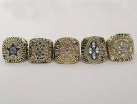 Directo de fábrica de La Venta de Réplicas Super Bowl 5 Años Establece 1971/1977/1992/1993/1995 Dallas Cowboys Anillos de campeonato