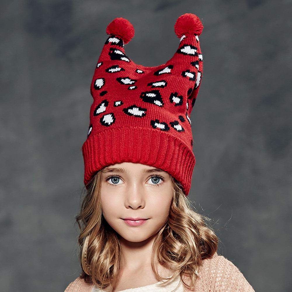 цены  Kenmont  Autumn Winter Kids Girl Children Cute Crochet Knit Leopard Beanie Hat Cap Christmas Gifts 4878  в интернет-магазинах