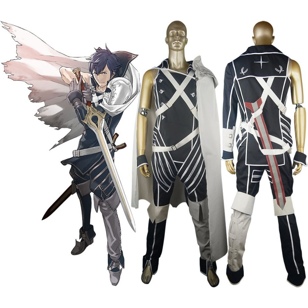 Fire Emblem Awakening Prince Chrom Costume  Avatar Outfit Halloween Carnival Party Cosplay Costume Women Men Adults