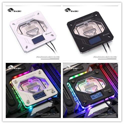 Original bykski FR-CU-RA-2019-V2 BIRTHDAY gift CPU water block ,watercooling cpu cooler for INTEL 115X 2011 Temperature display
