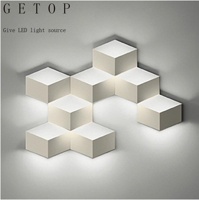 Zyy Flod Magic Led Wall Light Aluminum Stereo Rhombus Ice