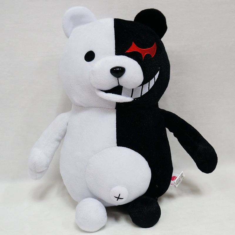 2019 Dangan Ronpa Super Danganronpa 2 Monokuma Black & White Bear Plush Toy Soft Stuffed Animal Dolls Birthday Gift For Children(China)
