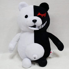 2019 2 Super Danganronpa Dangan Ronpa Monokuma Black & White Bear Plush Soft Toy Stuffed Animal Dolls Presente de Aniversário para crianças(China)