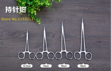 12.5cm Needle clamp Straight tip Stainless steel medical pliers Surgical forceps Laboratory cutting pliers Needle holder