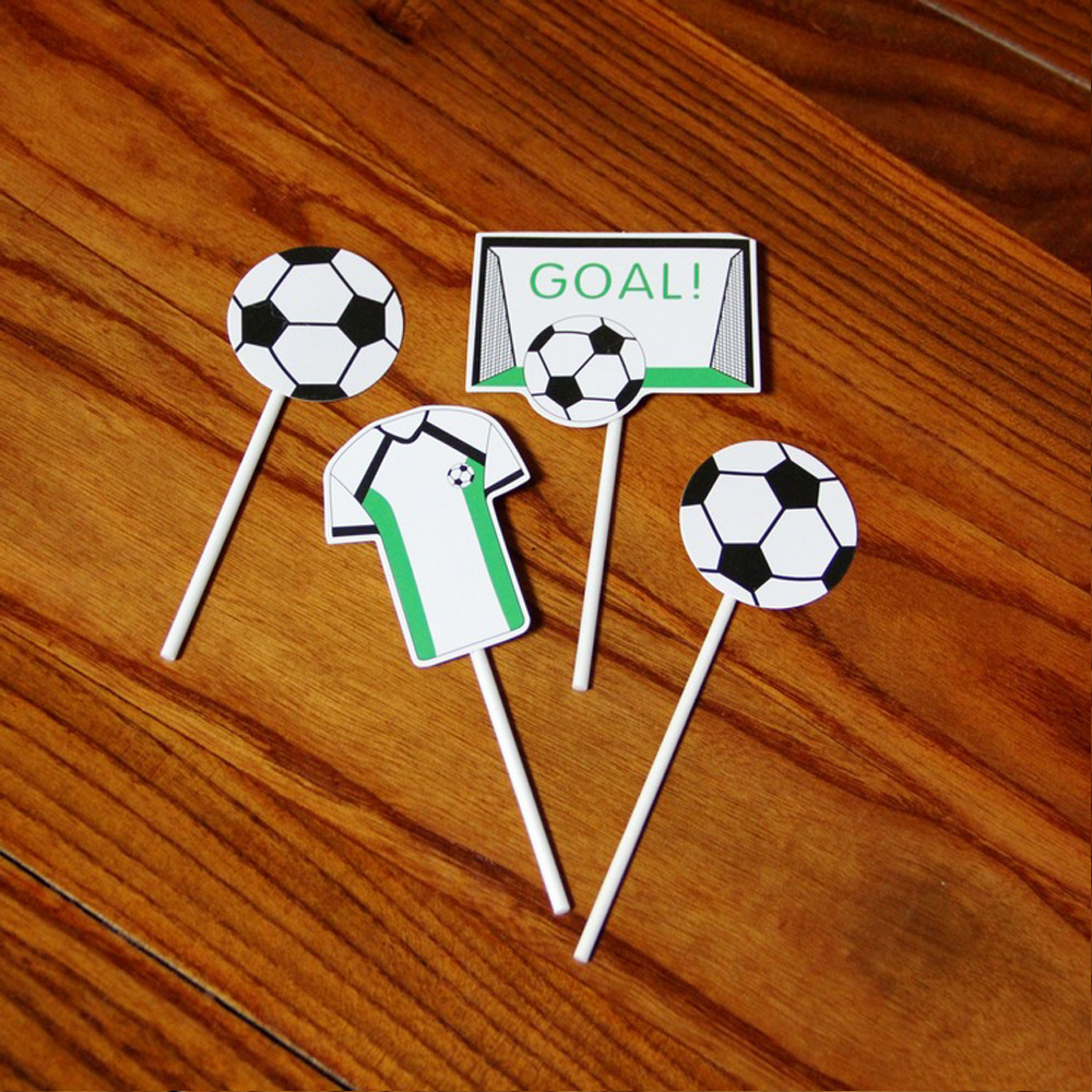 Football Cake Insert Decoration Soccer Baseball Basketball Personalized Card Set Fans Special Gifts Free Shipping