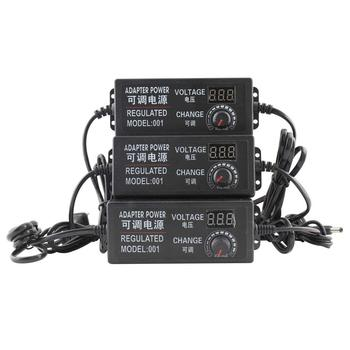 цена на Adaptor DC  3V-12V 3V-24V 9V-24V Adjustable AC 12 V Change Universal 24v plug power adapter supply for US EU Plug charger