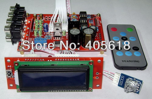 Free Shipping 6 Way M62446 5.1 Channel Volume Remote Control Preamplifier Kit for dc motor use gzlozone diy kit njw1194 remote volume conrol kit treble