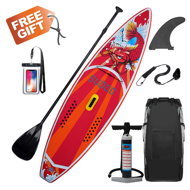 300x76x15 cm 10FT SUP Gonflable Stand Up Surf Conseil Doux Surf Paddle Board avec Sac style