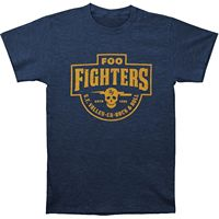 Mens Foo Fighters S.F. Valley Slim Fit Printed Graphic T-shirt Blue 100% Cotton
