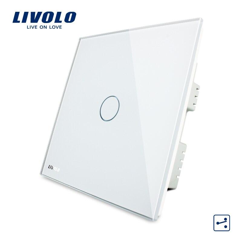 LIVOLO, Touch Schalter, 1-gang 2-way UK Touch Licht Schalter AC 220 ...