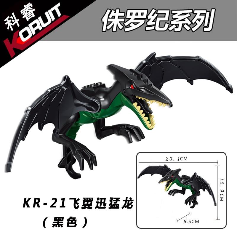 Mundo jurássico Brutal Raptor Building Blocks Jurássico Mundo Legoings 2 Dinossauro Figuras Bricks Brinquedos Para Crianças Compatíveis
