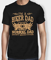 New Funny Men T Shirt I Am A Biker Dad Joke Gift For Father S Day