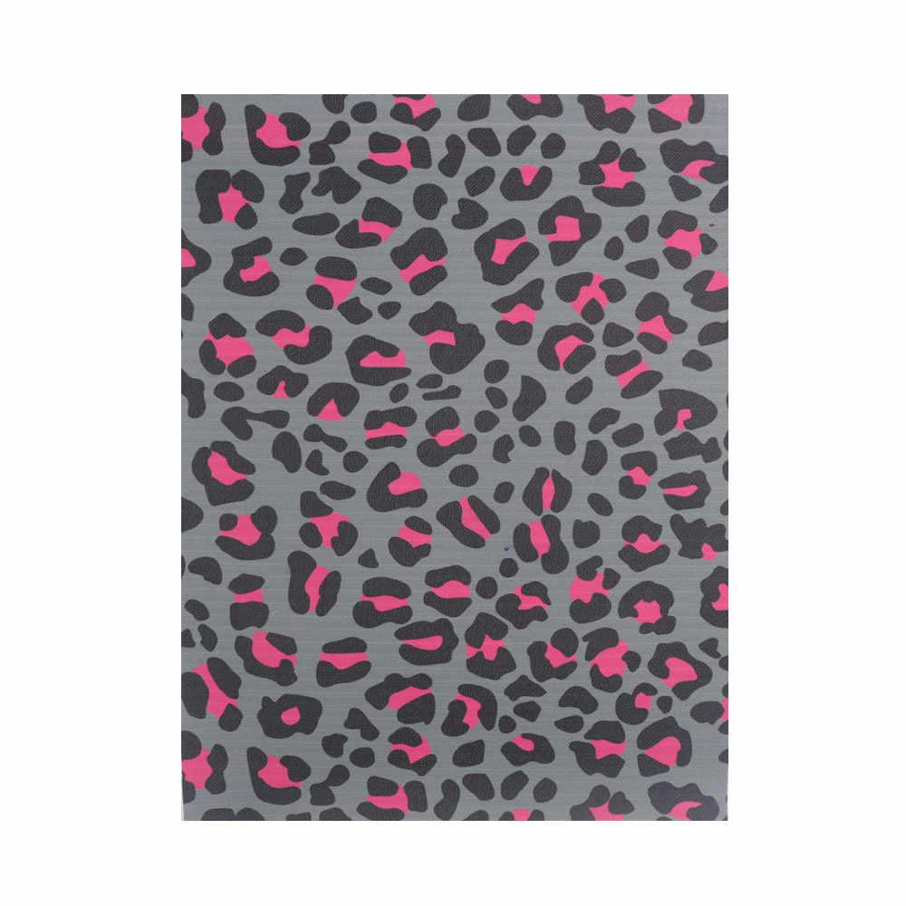IBOWS 22*30cm Leopard z nadrukiem ze skóry syntetycznej, nowy wąż skóry syntetycznej tkaniny dla DIY kokardy do włosów akcesoria ręcznie robione torby cratfs