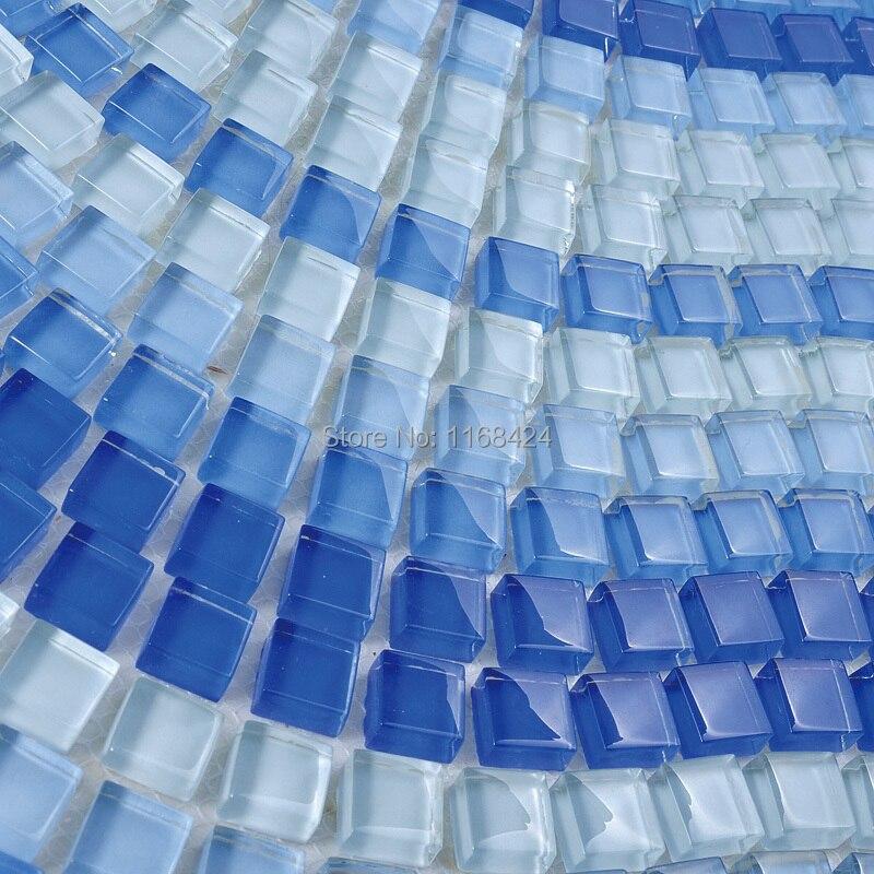 cristal azul ehm para piscina azulejos de mosaico de vidrio azulejo de la cocina backsplash cuarto