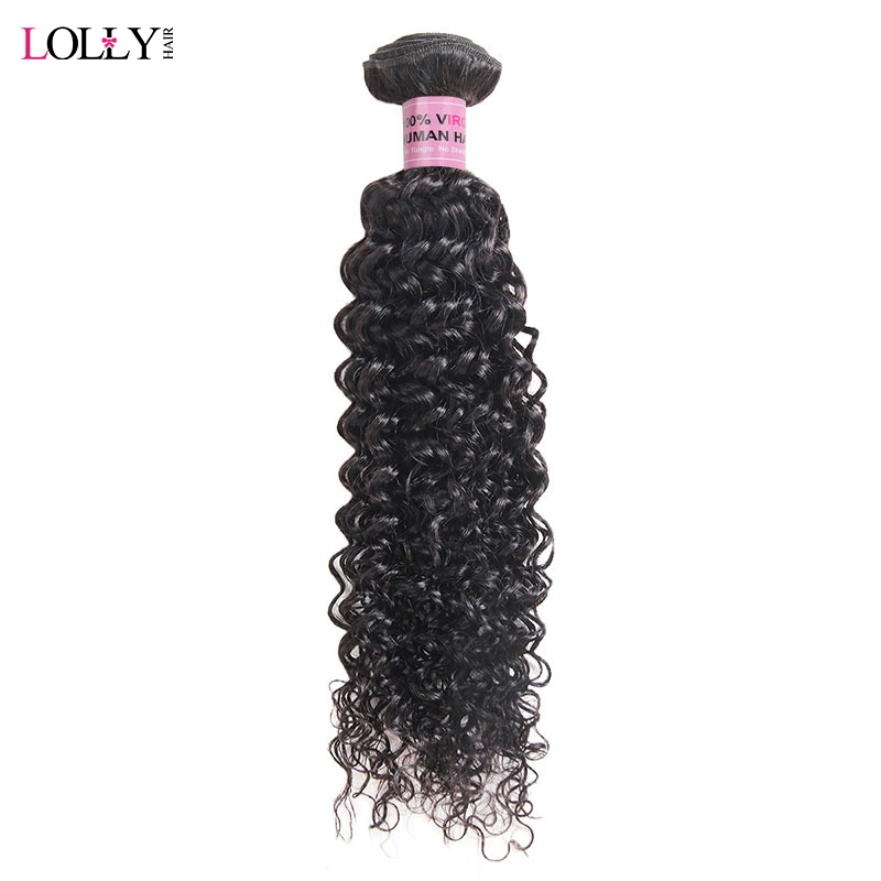 Lolly Hair Indian Curly Hair Bundles Remy Hair Weave 8-28 Inch Natural Color Human Hair Extensions 1 Bundle Deals Can Be Dyed