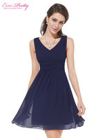Casual Dresses Ever Pretty HE03909 2016 Extra Size Elegant Sleeveless V Neck Short Party Casual