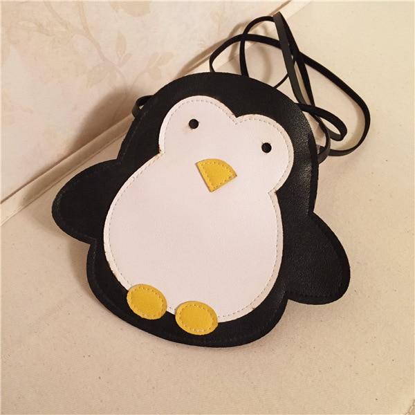 Hot Child Kids S Pu Penguin Decorative Package Snacks Bags Handbag Messenger Shoulder Bag Cross Body Pocket Satchel Handbags In Crossbody From