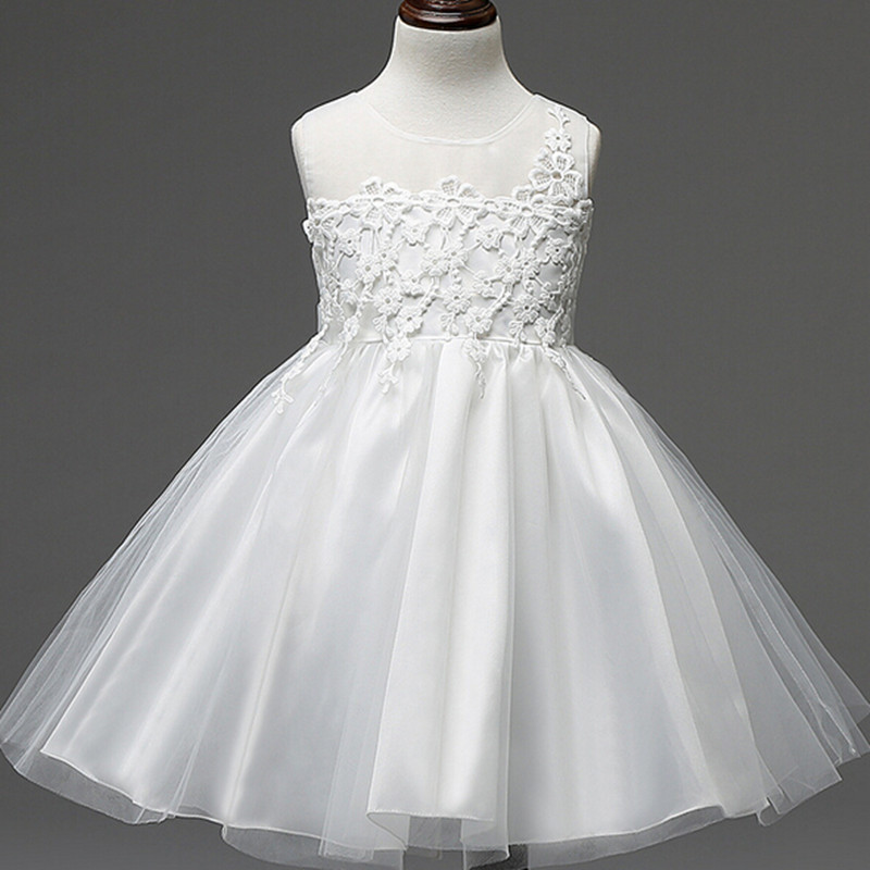 New fashion embroidery flower big girls princess dress summer kids dresses for wedding and party baby girl lace dress cute bow new kids princess dress for girls dresses for summer party dress wedding flower girl dress girls clothing gift 6 colors