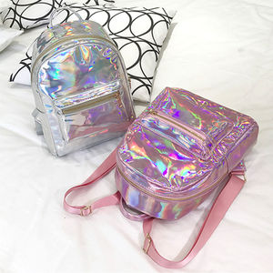 Silver Gold Pink Laser Backpac