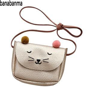 Banabanma شنطة يد صغيرة لطيف القط الأذن حقيبة كتف الاطفال كل مباراة مفتاح محفظة نسائية للعملات المعدنية الكرتون جميل حقيبة ساع للأطفال ZK40