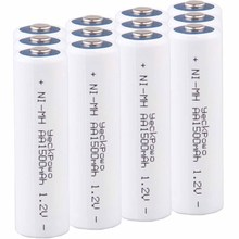 купить Lowest price 12 piece AA battery 1.2v batteries rechargeable 1500mAh nimh battery for power tools akkumulator дешево