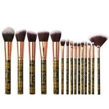 Professional 15pcs/set Makeup Brushes Set Eye Shadow Make up Brush Synthetic Foundation Powder Concealers cosmetics tool недорого