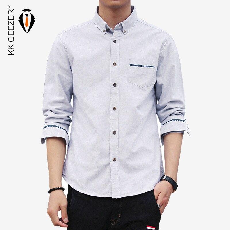 2018 Frühling Männer Casual Shirts Marke Design Langarm Mode Baumwolle Lässig Sozialen High-end-business Kleid Hemd Büro Tasten